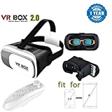 Drumstone 3D Vr Box,Virtual Reality Headset Version 2.0 With Bluetooth Wireless Remote Controller Suitable with Smartphones (One Year Warranty, Assorted Colour)