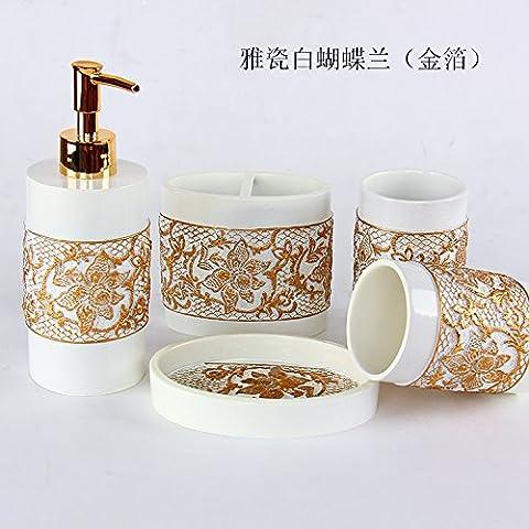 Baño Baño minimalista Continental 5 pieza creativa Kit caja de jabón de tocador con Bluetooth