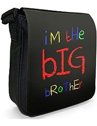 I'm The Big Brother Funny Cool Gift Small Black Canvas Shoulder Bag / Handbag