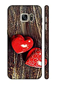 AMAN Symbols Love 3D Back Cover for Samsung Galaxy S7 Edge