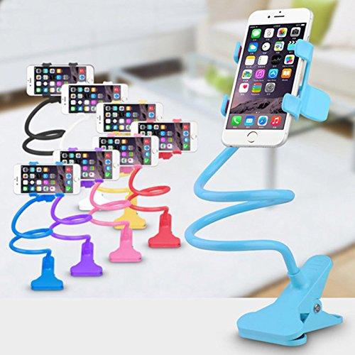 Universal Lazy Bett Desktop-Ständer Halterung für Handy GPS iPhone 6Plus/6/5S/SE/5/4S/4, GPS Geräte, fit auf Desktop Bett Mobile Stand für Schlafzimmer, Büro, Bad, Küche, etc. Free Size weiß
