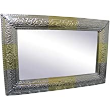 4e9957287ae5 Espejo redondo de metal dorado árabe para salón Arabia Espejo colgante ...  Saharashop Marroquí Espejo Plata De Oro 60 ...