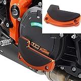 XX eCommerce Motorrad Recht Motor Stator Abdeckung Schutz Fall Schieberegler Bewachen Beschützer für K-T-M 1290 Super Duke R GT RC8 (Orange)