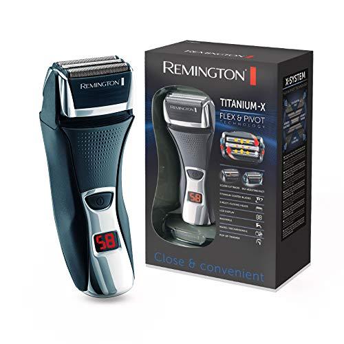 Remington Elektrischer Rasierer Herren F7800 (+LED Minuten-Display, Netz-/Akkubetrieb), Trocken-Rasierapparat, Präzisionstrimmer, Abwaschbar (Folienrasierer) - Kopf Rasierer