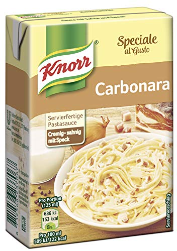 Knorr Speciale al Gusto Carbonara Soße, 8er-Pack (8 x 370 g) Soße