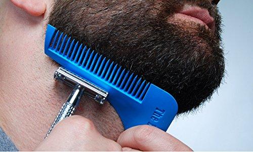 Takestop®. Peine para barba Línea Beard curvo para un afeitado y un mejor acondicionamiento de la barba. Accesorio para tener una barba simétrica. De acero
