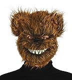 Haarige Zombie Bär Critter Maske Horror Halloween Fell für Erwachsene böse