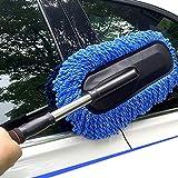 Lukzer 1 PC Microfiber Car Duster Telescoping Extendable Interior Exterior Multipurpose Cleaning Brush