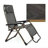 Deckchairs Feifei Justierbarer stützender Nullgressions-Stuhl-Klubsessel-Patio, der für Yard-Strand 4 Farben faltet Zusammenklappbar (Farbe : B)