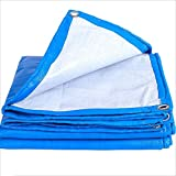 Planen Pavillon Camping Winddicht Starke Segeltuch-Plane-Wasserdichter Plane-Dampf-LKW-regendichte Krepp-Überdachungs-Plane Im Freien Haiming (Farbe : Blau, größe : 3 * 4)