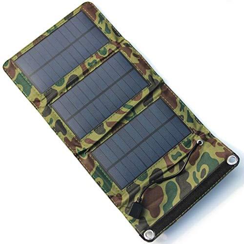 JAYLONG 5W Faltbare Solar Zelle, Tragbare 5,5 V Sicherheits-Solar-Ladegeräte Für Outdoor-Handys Aufladen Und Andere Moblie-Geräte,Camouflage - Portable-rv-generator