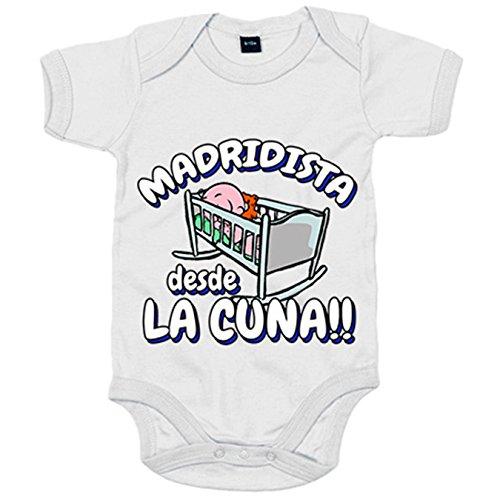 Body bebé Madridista desde la cuna Merengue Madrid fútbol - Blanco,