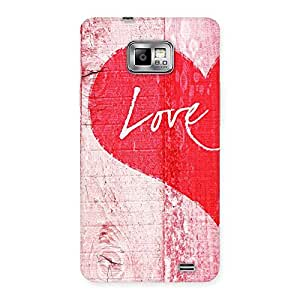 Stylish Love Pink Multicolor Back Case Cover for Galaxy S2