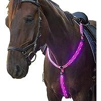 USB recargable LED intermitente caballo placas de pecho collares altamente visible iluminado caballo equitación equipo de protección
