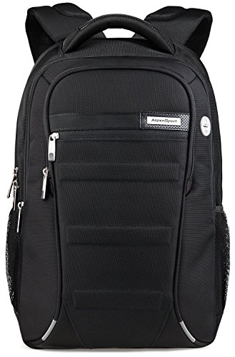 aspen b06blk19 business laptop rucksack 15 6 17 zoll wasserdicht wanderrucksack sportrucksack. Black Bedroom Furniture Sets. Home Design Ideas