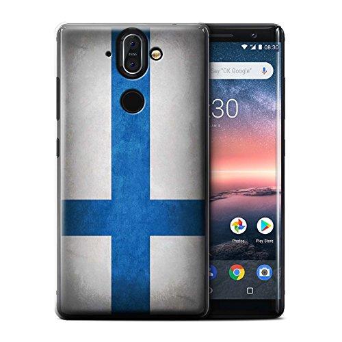 Sirocco Kollektion (Stuff4® Hülle/Case für Nokia 8 Sirocco 2018 / Finnland/Finnische Muster/Flagge Kollektion)