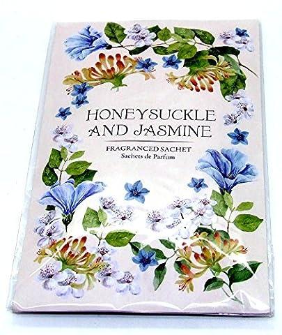 Scented Wardrobe Hanger - Double Scented Sachet in - Honeysuckle