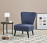 ARTDECO Cocktailsessel Lounge Sessel Vintagesessel Blau