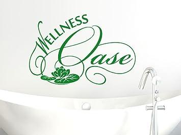 Wellness schriftzug  Wandtattoo Wandsticker Tattoo für Badezimmer Schriftzug Wellness ...