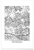 JUNIQE® Poster 20x30cm Stadtpläne Rotterdam - Design