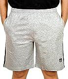 Devil Men's Cotton Shorts (BJIP085_Grey_...