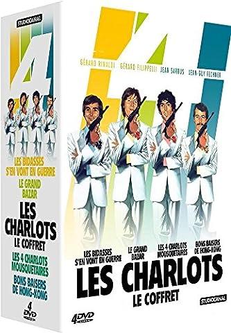 Coffret Les Charlots - Les bidasses s'en vont en guerre + Le grand bazar + Les 4 Charlots mousquetaires + Bons baisers de Honk