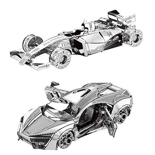MTu 2pcs 3D Metall Puzzle Hyper Sport Vehicle + Formel Auto F101 Modell Kits I20-26 DIY 3D Laserschnitt Modell-Bausatz Spielzeug - Spielzeug Kit Sport Modell Auto