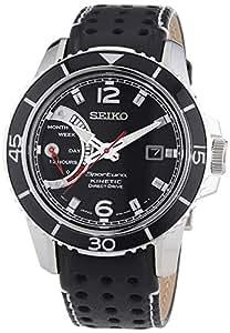 Seiko - SRG019P2 - Montre Homme - Quartz Analogique - Cadran Noir - Bracelet Cuir Noir