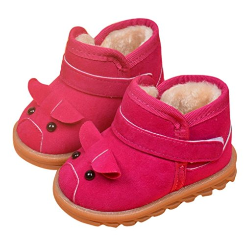 22 , Hot Pink : Sunfei Infant Toddler Baby Girls Boots Boys Kid Winter Thick Snow Boots Fur Shoes (22, Hot Pink)