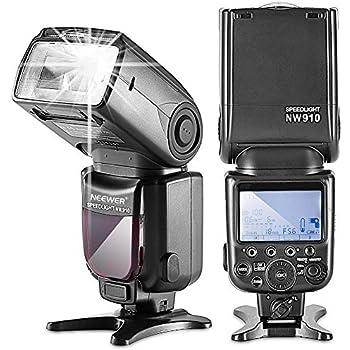 Neewer® Speedlite MK910 i-TTL Haute Vitesse Sychro 1/8000s HSS Ecran LCD Flash Maître Flash Esclave pour Nikon D3S D60 D70 D70S D80 D80S D200 D300 D300S D700 D3000 D3100 D5000 D5100 D7000 et AutresCaméras Nikon DSLR (Import Royaume Uni)