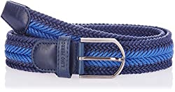 Lino Perros Blue Leather Mens Belt (LMBE00228-34BLUE)