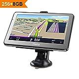 5' GPS Voiture Moto Navigation, Hieha Appareil de Navigation Écran HD Tactile,...