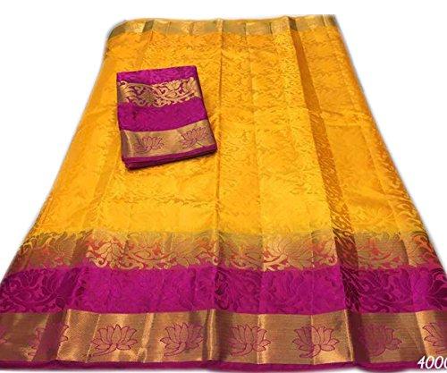 Nirja Creation Multi Color Fancy Party wear Cotton Silk Saree (6 Color)...
