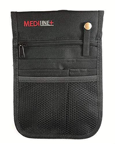 Bolsa de viaje para enfermera, bolsa de cintura, organizador de bolsillo con adj. Cinturón. Color negro.