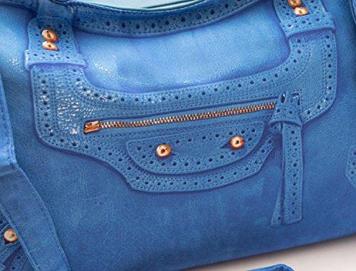 Tosca Blu Borsa Donna Panna montata Borsa Azzurro