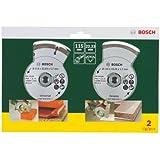 Bosch 2607019478 Lot de 2 disques diamant pour Carrelage et matériaux de construction 115 mm