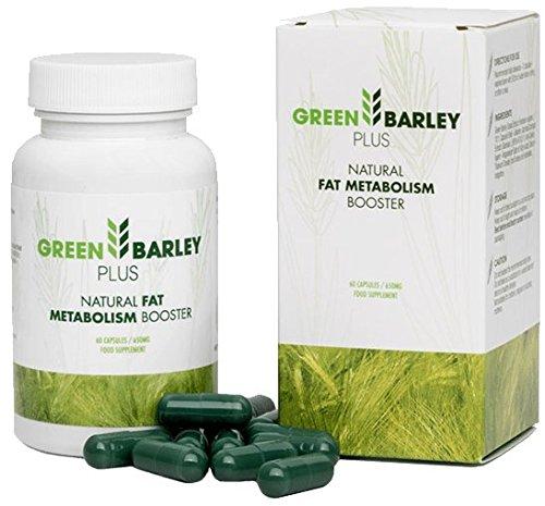 ✅GREEN BARLEY PLUS Premium: Schöne Haut, feste Haare & Fingernägel - Reduziert Cellulite, Basispaket 60 Kapseln / 650 mg