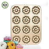 Acciaio al Carbonio Donut Stampi Muffin Calore Antiaderente Cake Mold Facile Bake Full Size per Biscotti a Forma di Ciambelle, Anello di Cottura della Torta Muffa