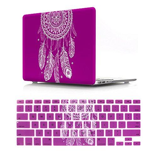 BestCatgift A1286 - Carcasa Rígida de Goma con Teclado para MacBook Pro DE 15 Pulgadas (con CD-ROM), Diseño de Atrapasueños Hot Pink Old Macbook Pro 15 Inch
