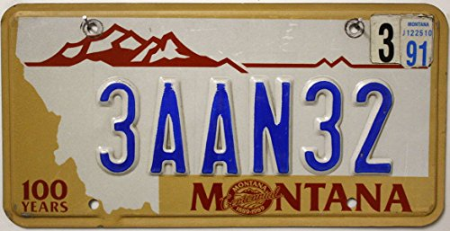 USA Nummernschild MONTANA 100 years ~ US Kennzeichen LICENSE PLATE ~ Blechschild