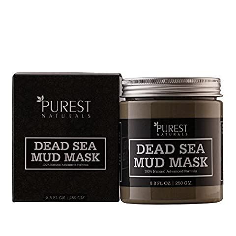 Purest Naturals Dead Sea Mud Mask for Face, Acne, Oily