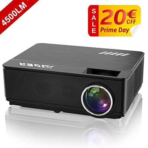 YABER Proyector Soporta Full HD 1080P 4500 Lúmenes Proyector Cine en Casa...