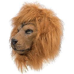 P'tit Clown Masque adulte latex intégral lion Unisex, 41132 Taille Unique