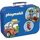 Schmidt Spiele 55599 - Playmobil Caja Puzzle 2 x 60, 2 x 100 piezas en una caja de metal