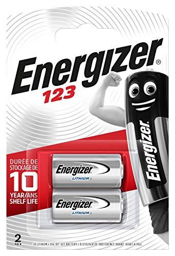 Energizer CR123/CR123A - Pilas 123 (Litio, 3 V, 1500 mAh, 2 unidades)