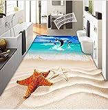 Poowef 3D Wallpaper 3D Wall Mount Fußboden im Bad - kreative Wohnzimmer Schlafzimmer Dekorationen selbstklebende Sticker und Poster zur Landschaft