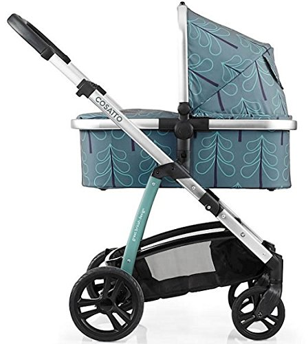 Cosatto wow Travel system with Port bag and footmuff in Fjord Cosatto Includes - Pushchair, Carrycot, Port Car seat, Footmuff, Changing bag and Raincover Suitable from birth up to 15kg (4 years approx.) 'In or out' facing pushchair seat lets them bond with you or enjoy the view. 2