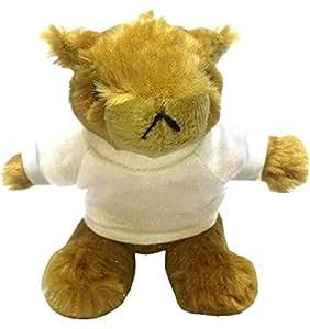 Peluche marmotte porte-clé avec un T-shirt personnalisé