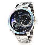 POLICE Herren Analog-Digital Quarz Uhr mit Edelstahl Armband PL14638XSURW.02M