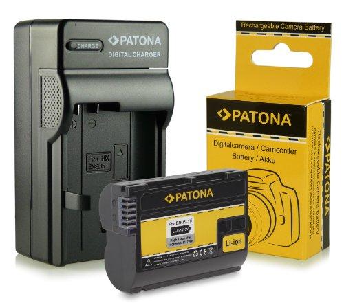 Caricabatteria + Batteria EN-EL15 per Nikon 1 V1 - Nikon D600 | D800 | D800E | D7000 | D7100